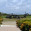 Blackhawk arriving at Dangriga airport