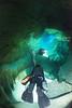 Cave diving under belize