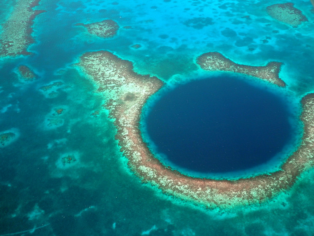flight blue hole belize