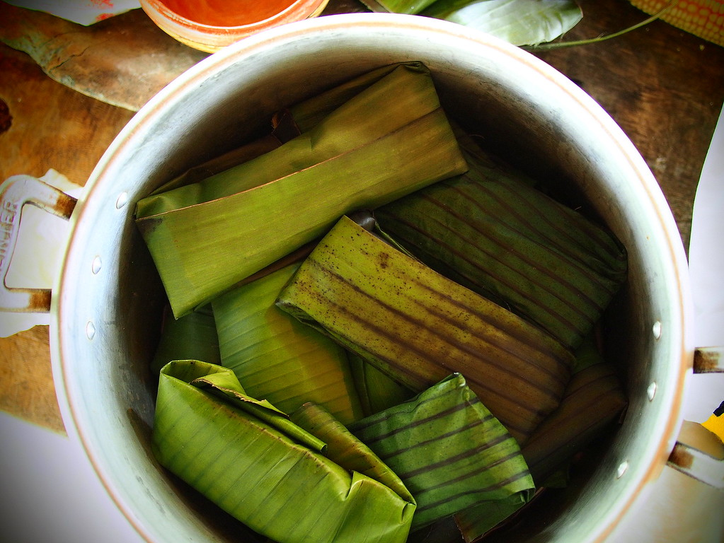 making tamales at a women's coop in san ignatio belize