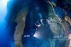 Inside the Blue Hole 140ft deep