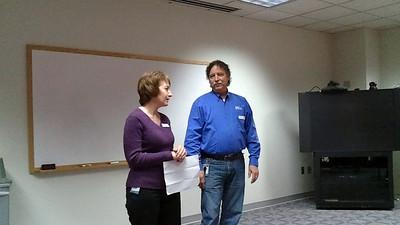 12/07/2010 - Steve Leonard's 40 year service anniversary - presentation by Kathy Rice