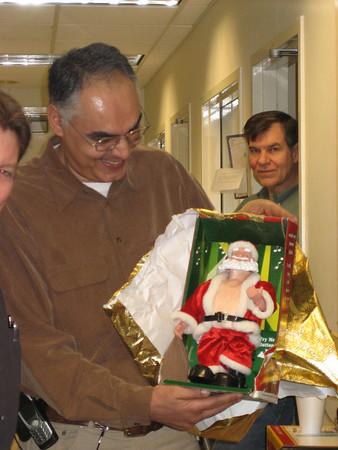 """It's a """"Jingle Belly Santa"""" ... Moe likes it's belly dance ..."""