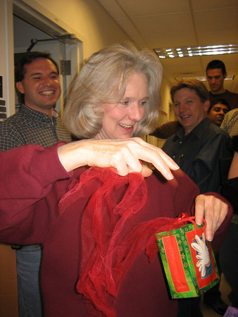 ... so Diane opens a new gift ...
