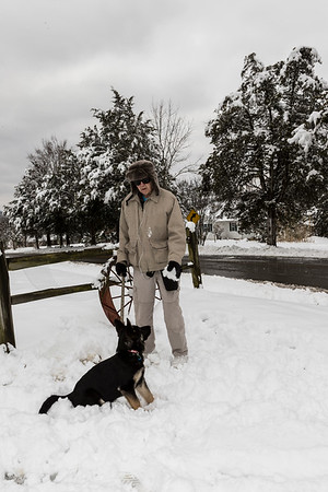 Bella & Dad posing in the snow