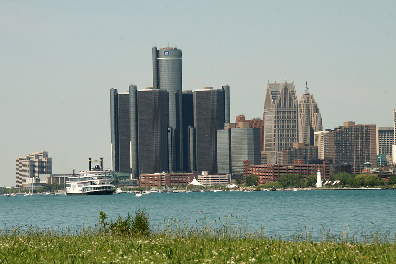 View of downtown from Belle Isle