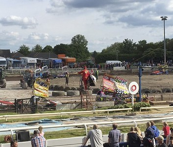 The BriSCA F1 stock cars were on the racing card.