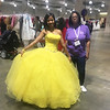 """""""Belle"""" Karla Aquino of Lawrence with personal shopper Gail Flattes of Boston"""