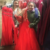 Personal shopper Michelle Laczkoski, left, helps Esmeralda Callejas pick out a dress. Both are from Boston.