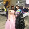 """Belle"" Angelyn Zuniga-Aleman of Boston with personal shopper Maria Silva of Dorchester"