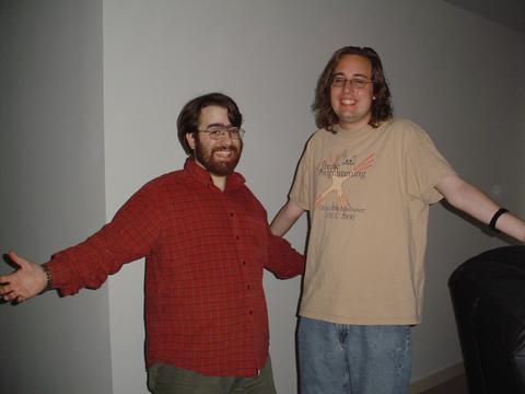 Ben and Mike in seattle, first pic!