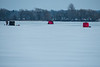Ice fishing on the Bay of Quinte 2020 February 16