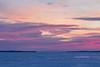 Faint purple skies down the Bay of Quinte before sunrise.