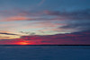 Purple sky across the Bay of Quinte before sunrise.