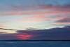Purple colour fading as sunrise approaches.