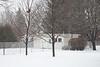 Snow falling in the backyard. .4 s