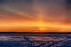 Hint of a sun pillar across the Bay of Quinte before sunrise. HDR efx daylight to evening.