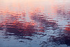 Sky colours reflected in the waters of the Bay of Quinte.