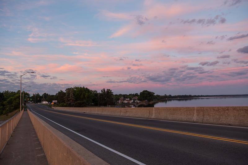 Looking towards Rossmore from the Norris Whitney Bridge.