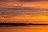 Bay of Quinte shoreline before dawn looking down the bay.
