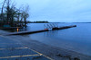Boat launch at foot of Herchimer Avenue on the Bay of Quinte. High water.