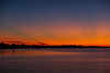 Bay of Quinte at Belleville Ontario before sunrise.