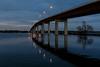 Norris Whitney bridge before sunrise.