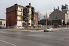 Hotel Quinte, remains after fire. What is standing is to be demolished.