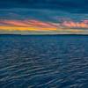 Bay of Quinte around sunrise. HDR efx dark. Purple sky, yellow.