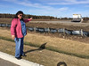 Denise pointing at site for Belleville casino 2016 March 20.
