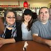 Mary Jane Metatawabin, Mekwan Tulpin, Paul Lantz at Denny's Restaurant in Belleville.  2016 March 22