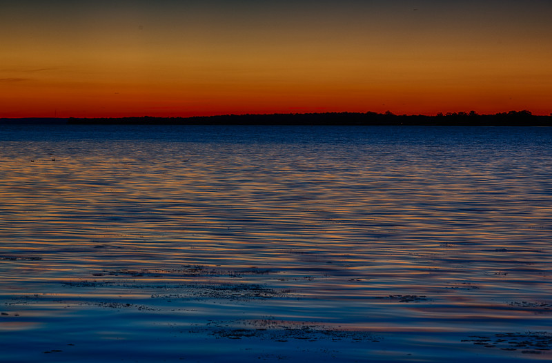Sky before sunrise looking across the Bay of Quinte from Belleville. HDR efx dark.
