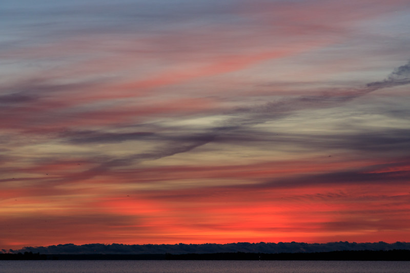 Sky over the Bay of Quinte before sunrise.