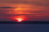 Sun well above the horizon across the Bay of Quinte 2018 December 31.