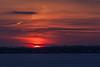 Edge of the sun rising.