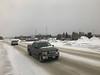 Crosssing highway 11 in Cochrane on the Polar Bear Express