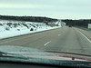 Bare dry pavement on Highway 11 south of Trout Creek.