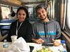 Danis and Jordon Akiwenzie on the Polar Bear Express.