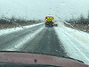Following snowplow on Highway 12 south of Beaverton.