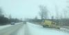 Cropped image by Denise Lantz taken around Beaverton on Highway 12 showing van in ditch. 2018 April 14