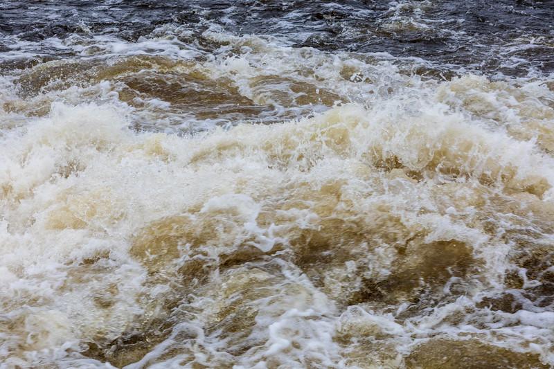 Water below the Lazier Dam.