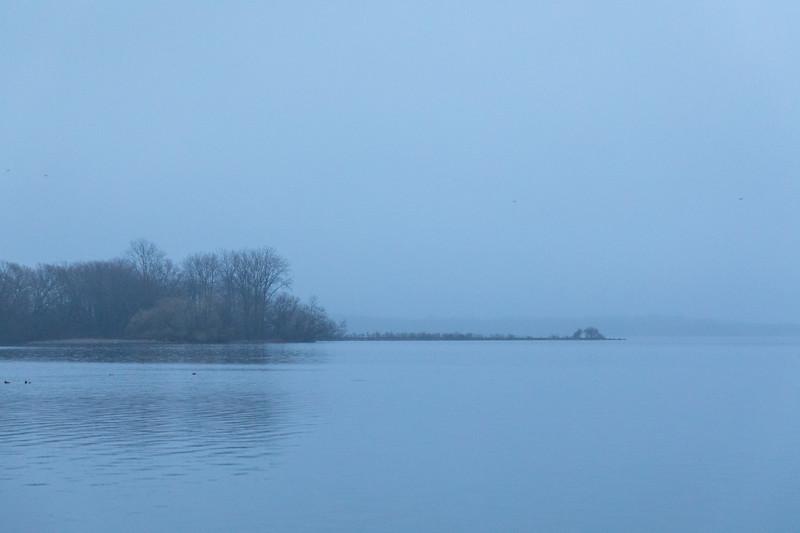 Bay of Quinte shoreline before sunrise.