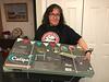 Denise Lantz with planter in box