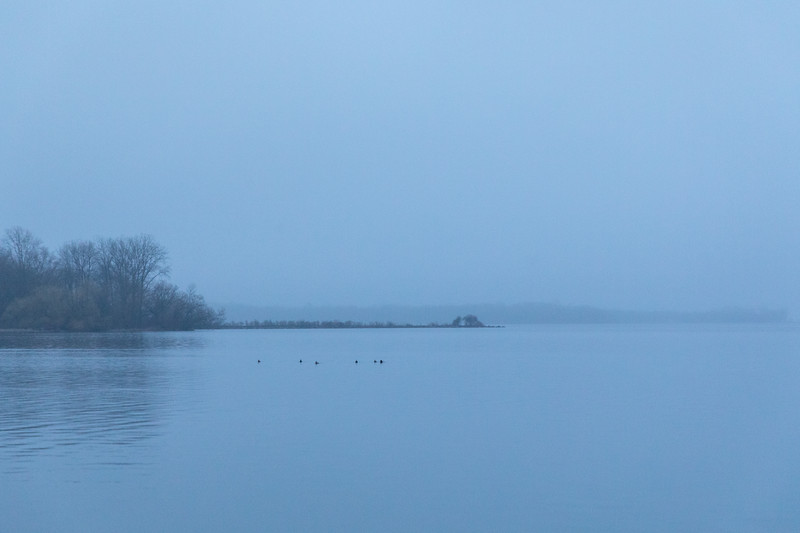 Bay of Quinte on a foggy morning before sunrise 2019 April 21.