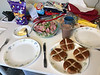 Easter dinner with hot cross buns