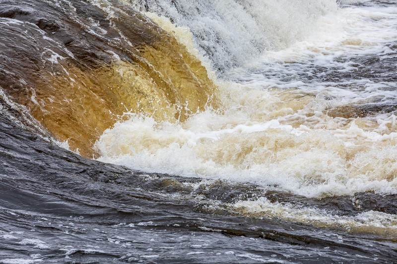 Water flowing over the former Lazier Dam. Faster exposure.