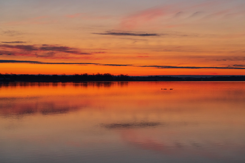 Sky before sunrise looking down the Bay of Quinte.
