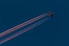Four engine jet over Belleville Ontario after sunset. Lightroom enhanced DNG.