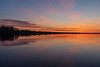 Wide view looking down the Bay of Quinte before sunrise 2019 April 25