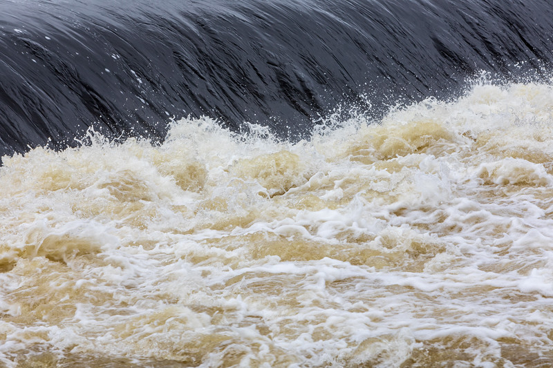 Water below the Yardmen Dam
